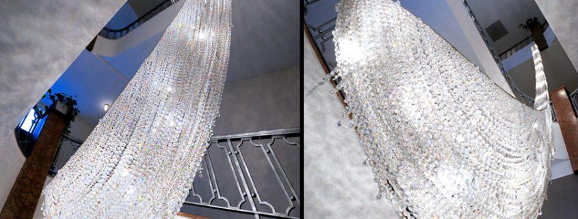 Изящное световое решение – Icefall, Manooi Crystal Chandeliers