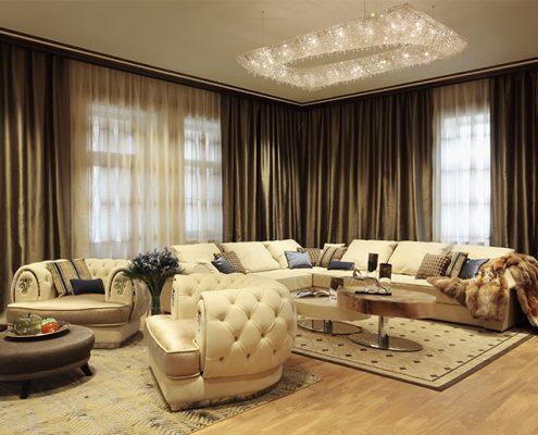 Частная резиденция в Венгрии, Manooi Crystal Chandeliers