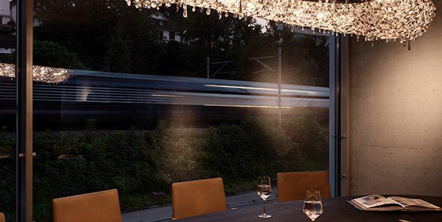 Офисное пространство в Цюрихе, Manooi Crystal Chandeliers